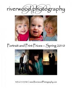Portrait & Print Pricing Guide - Spring 2010 | Riverwood Photography | Calgary, Alberta, Canada