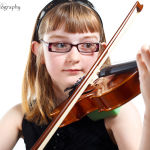 Portrait of Portrait of Danielle and her Violin