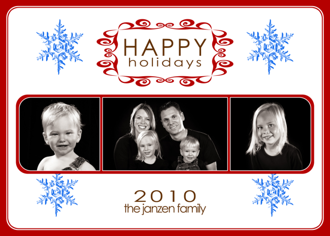 Photo Greeting Cards - 5x7 Flat - Holidays