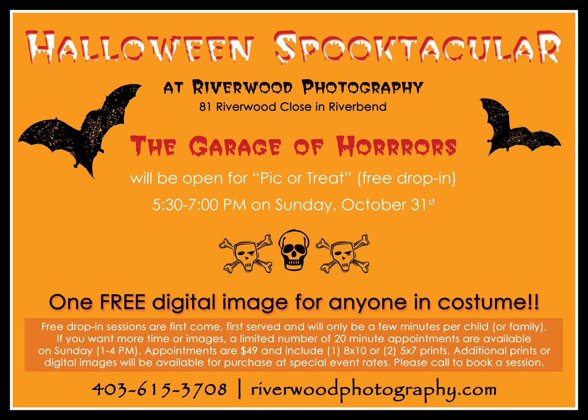Free Drop-In for Halloween Pic or Treat Sessions