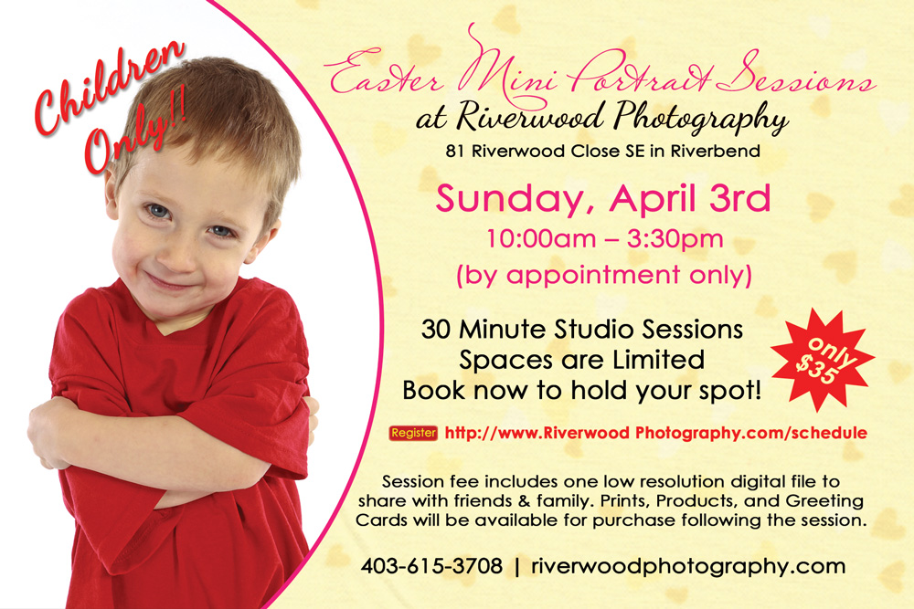 Easter Mini Portrait Sessions | 403-615-3708 | Calgary, Alberta, Canada