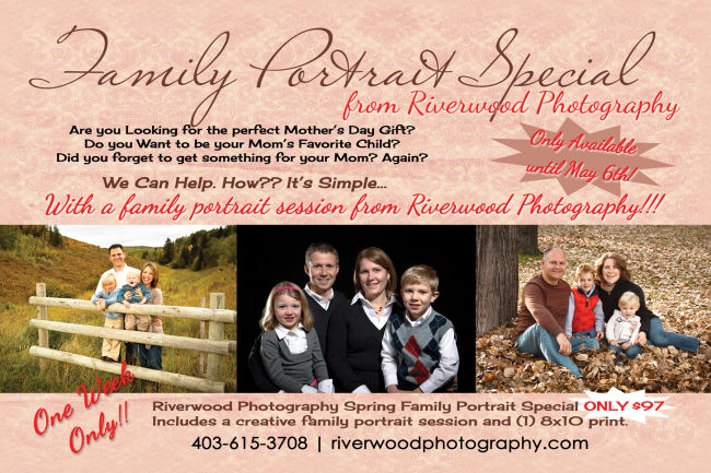 Family Portrait Special - Mothers Day Promotion