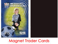 Magnet Backed Trader Cards - Soccer
