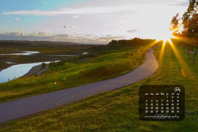 Free Desktop Wallpaper for July 2011 - Starburst Sunset