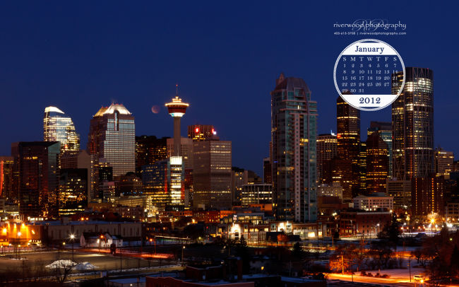 Free Desktop Wallpaper for January 2012 from Riverwood Photography
