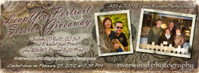 Leap Year Contest - Enter to win a Free Lifestyle Portrait Session