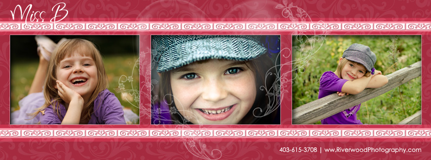 Facebook Timeline Cover Image Template - Hearts and Swirls