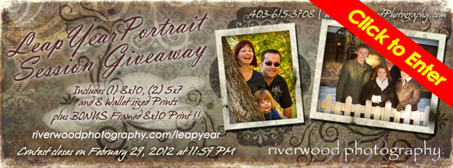 Leap Year Contest - Enter to win a Free Portrait Session