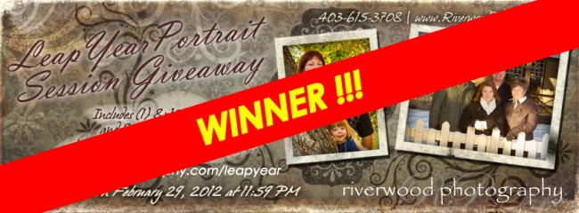 Leap Year Portrait Session Contest Winner has been Contacted