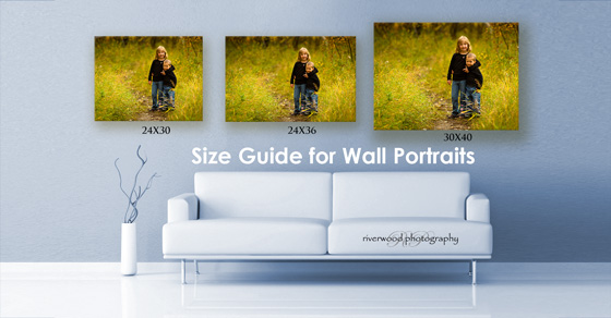 Wall Portrait Photography Sizing Guide