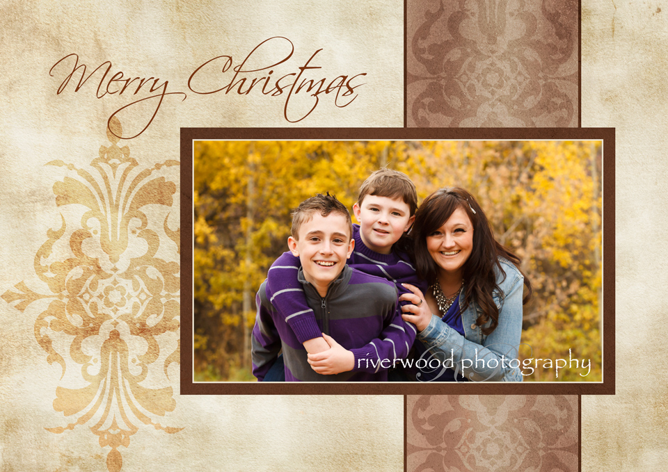 Merry Christmas - Photography Greeting Card Sample