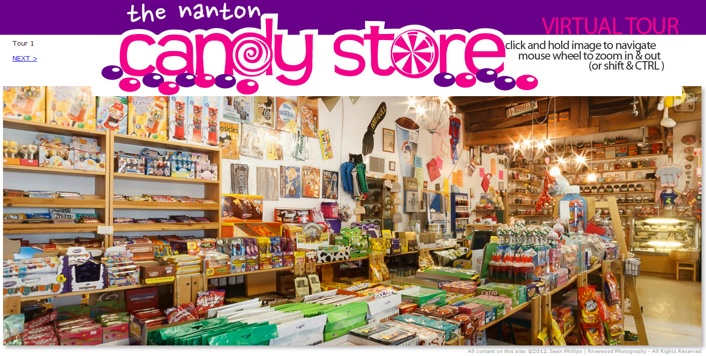 Virtual Tour of the Nanton Candy Store