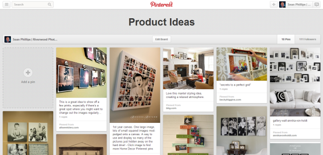 Wall Portrait Display Ideas on Pinterest