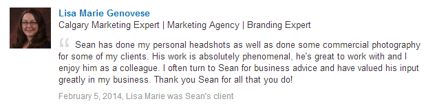 Sean has done my personal headshots as well as done some commercial photography for some of my clients. His work is absolutely phenomenal, he's great to work with and I enjoy him as a colleague. I often turn to Sean for business advice and have valued his input greatly in my business. Thank you Sean for all that you do!