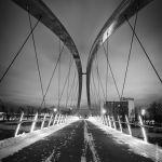 Calgary Skipping Stones Bridge at Night