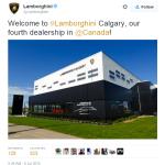 Lamborghini Calgary Grand Opening - Lamborghini on Twitter