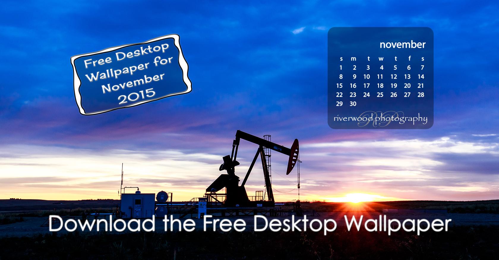 Free Desktop Wallpaper Calendar for November 2015