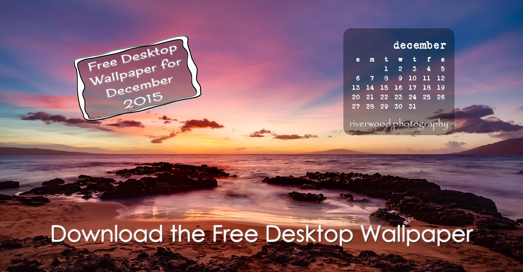 Free Desktop Wallpaper Calendar for December 2015