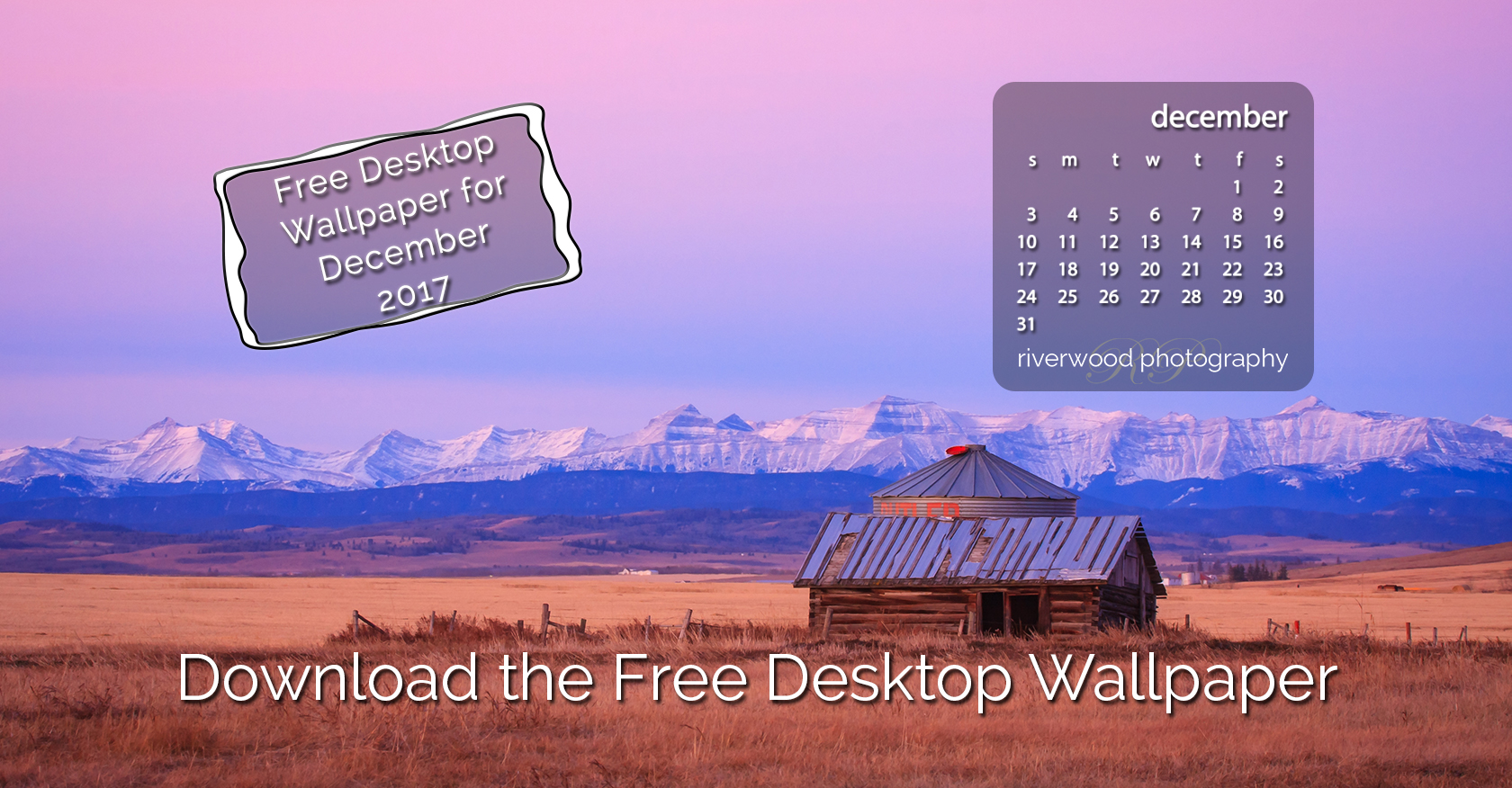 Free Desktop Wallpaper for December 2017 – Foothills Sunrise