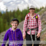 Hiking to Lake McArthur near Lake O'Hara in Yoho National Park