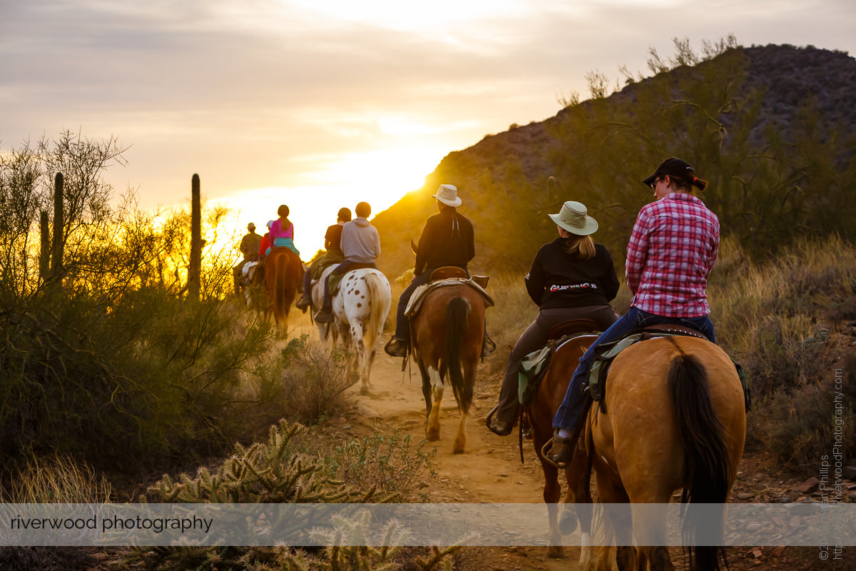 Sunset Trail Ride at Cave Creek Regional Park in Arizona