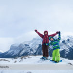 Snowshoeing at Lake Minnewanka in Banff National Park