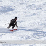 Skiing on a Bluebird Day at Lake Louise