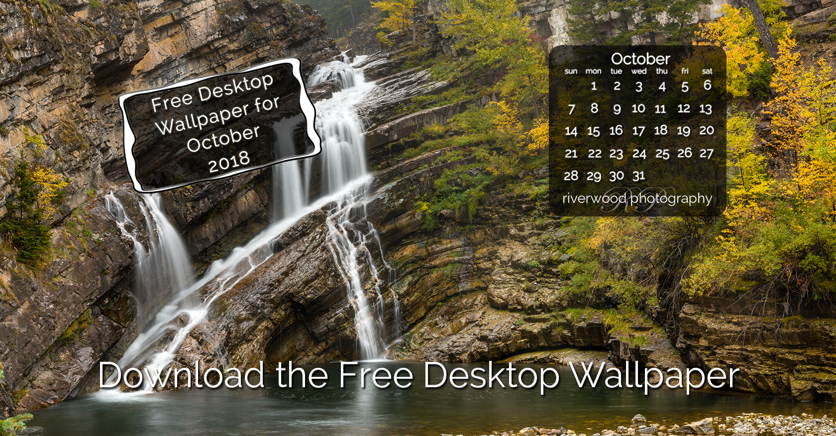 Free Desktop Wallpaper for October 2018 – Cameron Falls