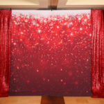Red Sparkle Snowflake Christmas Holiday Backdrop