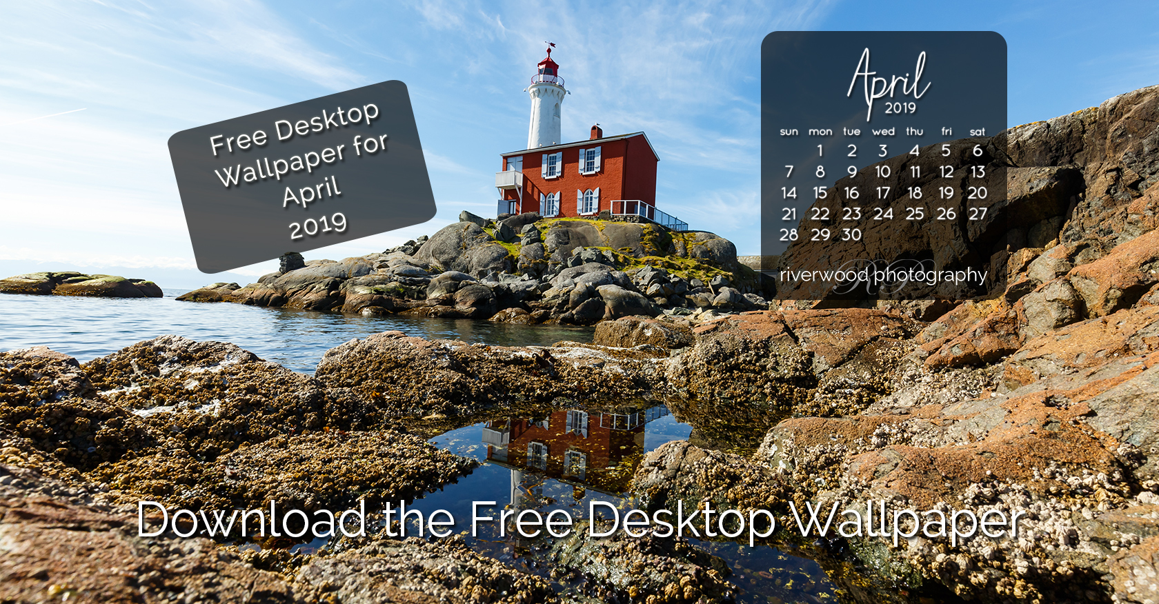 Free Desktop Wallpaper for April 2019 – Fisgard Lighthouse