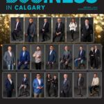 Cover Page for the Business in Calgary July 2019 Issue containing the Leaders Awards